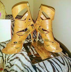 Brunt orange high heels